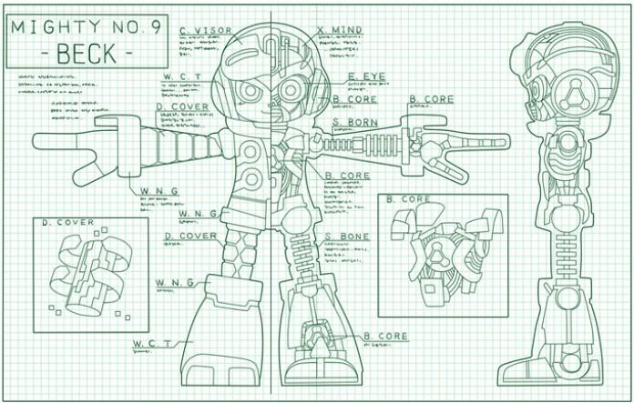 Mighty No. 9 conceito sketch 2