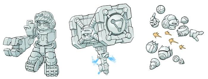 Mighty No. 9 conceito sketch
