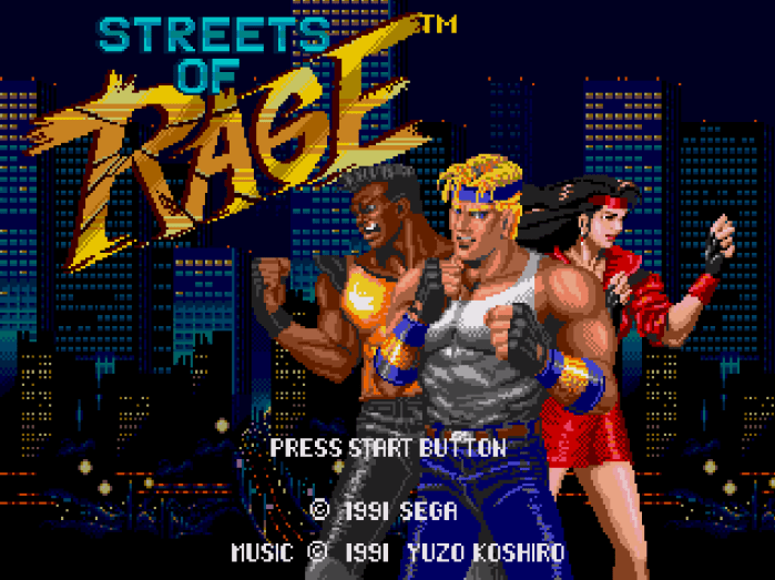 Streets of Rage - tela título
