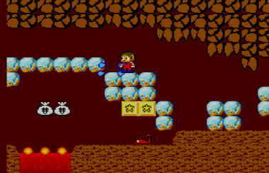 Alex Kidd in Miracle World - caverna
