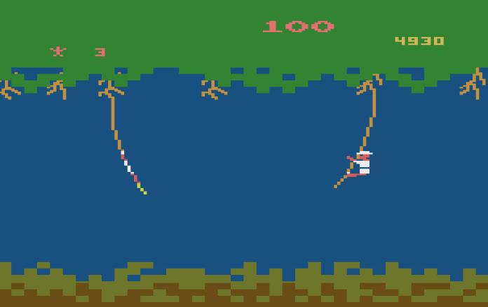 Jungle Hunt Atari 2600 floresta