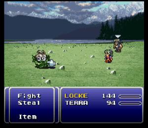 Final Fantasy III - batalha