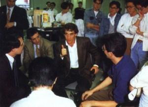 Senna na sede da Sega 1991