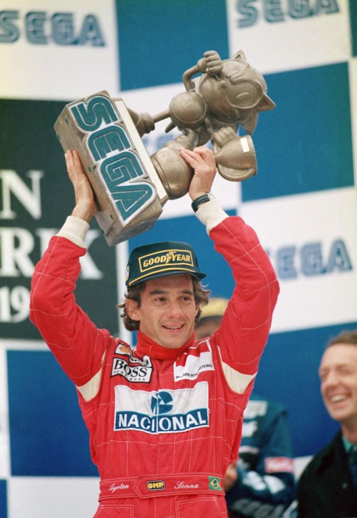 Senna trofeu Donington 1993