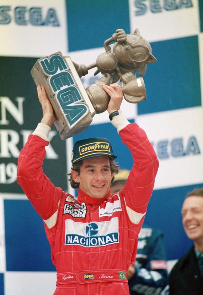 Senna troféu Donington 1993