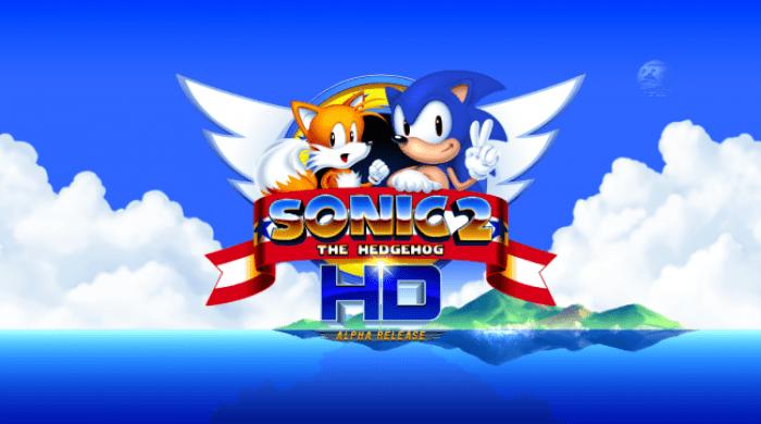 Sonic 2 HD Alpha - tela-título