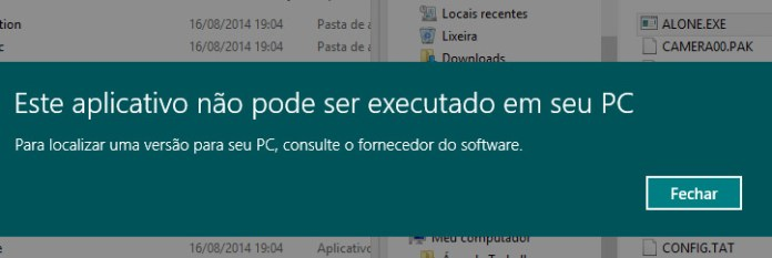 Incompatível Windows 8.1