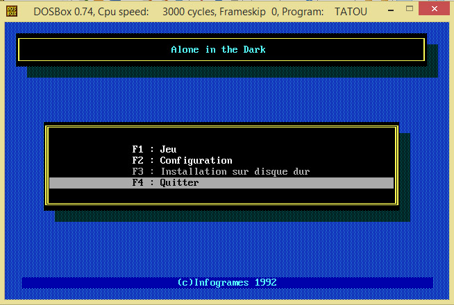 Alone in the Dark no dosbox