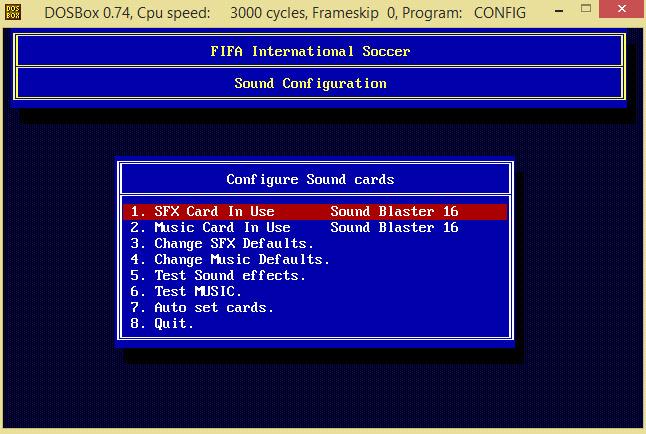 Fifa 94 no DOSBox