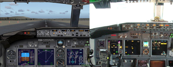 737-800 simulador e real