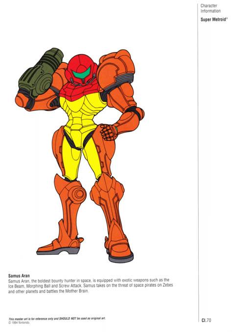 Nintendo Official Character Manual Samus Aran Perfil