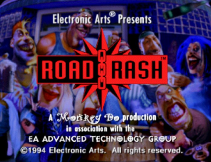 Road Rash tela-título 3DO