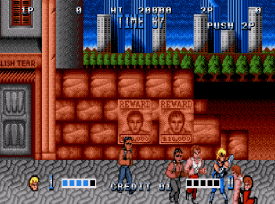 Double Dragon (Mega Drive) - fase 1