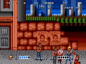 Double Dragon (Mega Drive) - fase 1