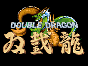 Double Dragon (arcade) screen title