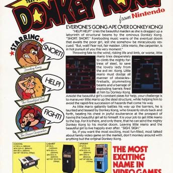 Donkey Kong arcade flyer