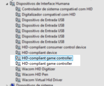 controle snes gerenciador de dispositivos