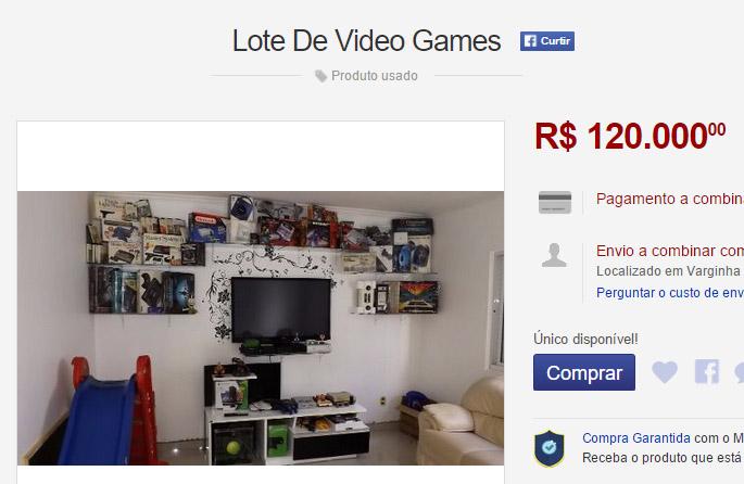 videogames colecao venda