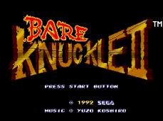 Bare Knuckle II tela titulo JPN
