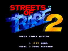 Streets of Rage 2 tela titulo usa