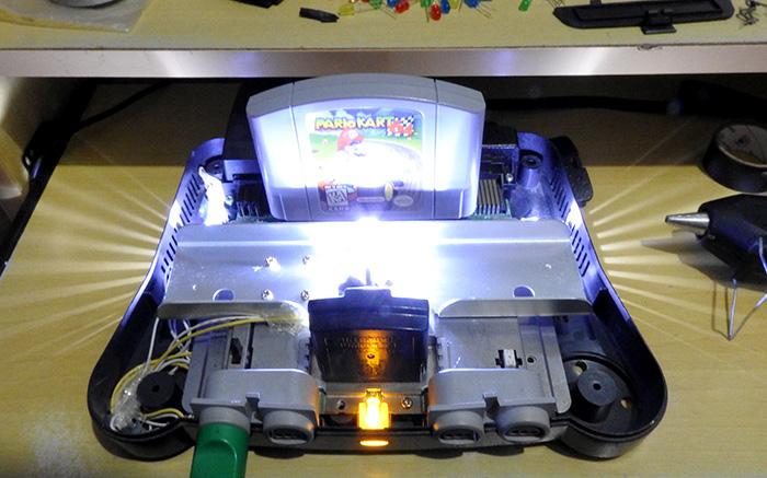 n64 leds instalados