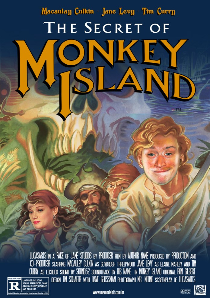 monkey island fake movie poster