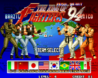 kof-94-selecao-team