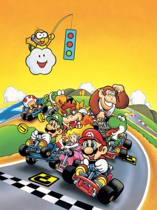 super mario kart japan art vertical