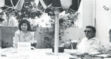 Rosen e a esposa Masayo, em 1982.