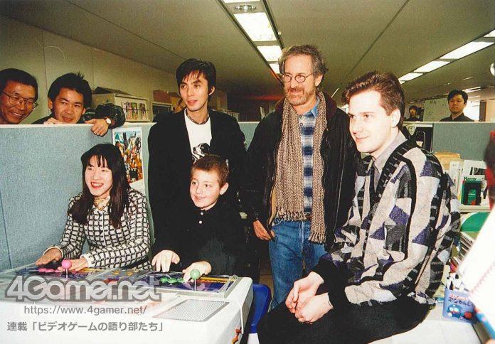 Equipe da Sega do Japão com Steven Spielberg