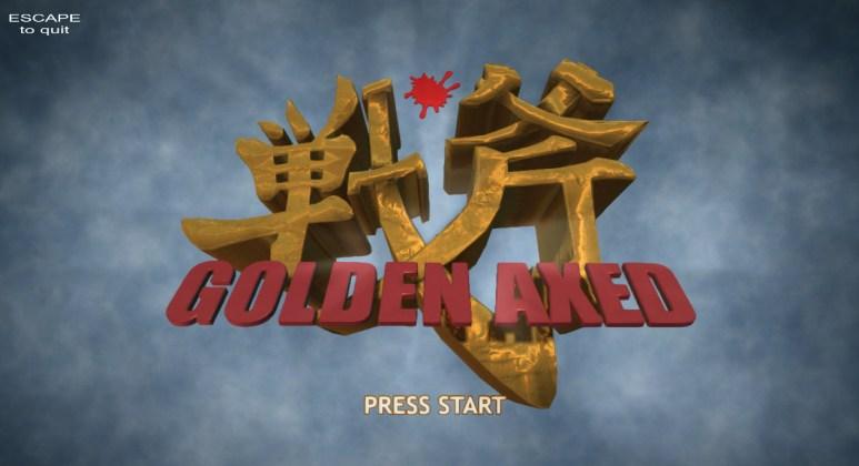 tela titulo de Golden Axed