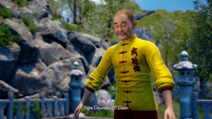 shenmue III tigre dourado