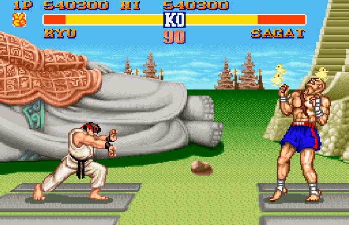 street fighter Ii snes ryu vs sagat
