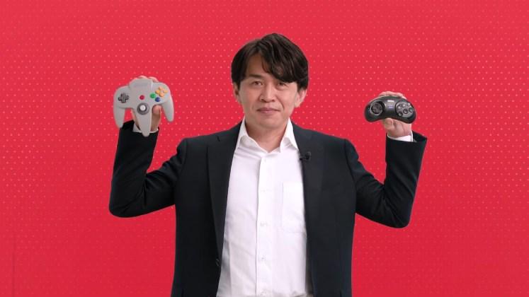 Yoshiaki Koizumi controles N64 e Mega Drive para Switch