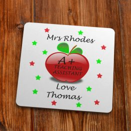 TC111 Teacher Coaster template A teaching Assistant Coaster 90mm 1 - Personalised A+ Teaching Assistant Thank You Coaster Gift