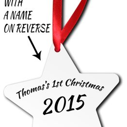 Photo Image 1st Christmas Back Listing Template CL Star Ornamen - Personalised Photo Baby 1st Christmas Star