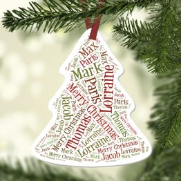 Website Listing Christmas Tree - Personalised Names Aluminum Christmas Tree