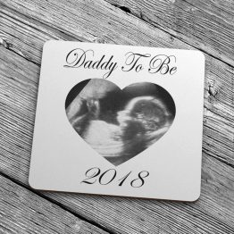 2018 Daddy To Be Baby Scan Coaster - Daddy To Be 2019 Baby Scan Coaster Gift