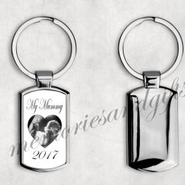 My MUMMY baby scan Printing Template Metal Rectangle Keyring - My Mummy Baby Scan Metal Keyring