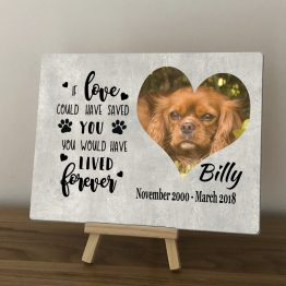 Aluminium Memorial - Pet Photo Memorial Aluminium Plaque