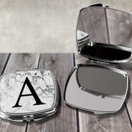 Letter A - Letters Alphabet Compact Mirror