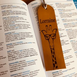 IMG 0591 - Personalised Genuine Leather Elephant Bookmark