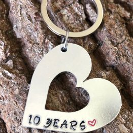 IMG 5371 - 10 Years Anniversary handstamped keyring
