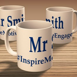 Teachers Name InspireMotivateEngage 10oz Ceramic Mug Durham - Personalised (Teachers Name) #InspireMotivateEngage Gift Mug