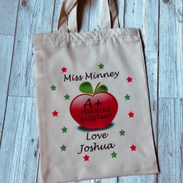 IMG 0729 - Personalised A+ Teaching Assistant Natural Soft Tote bag