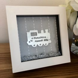 IMG 5950 - Personalised Christening Handstamped Train Frame