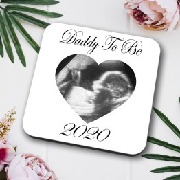 Daddy To Be 2020 Baby Scan Coaster Square Hardboard 3 - Daddy To Be Baby Scan Coaster