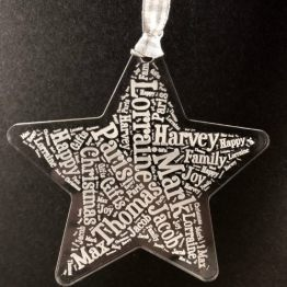IMG 1169 e1537993098818 - Personalised Acrylic Names Christmas Star