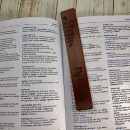 IMG 1297 e1540545437564 - Personalised My Family Bookmark Leather Genuine Gift