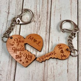 IMG 1632 - Personalised Initials Key & Heart Keyring Gift